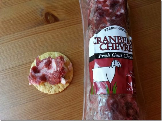 cranberry goat cheese on a cracker 668x501 thumb Mile Square Park Walk and BEST Appetizer for a Holiday Party