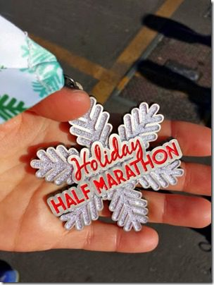 holiday half marathon medal 376x501 thumb Holiday Half Marathon Results and Recap