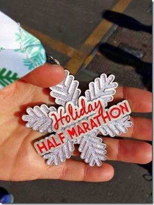 holiday half marathon medal (376x501)
