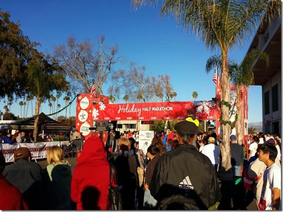 holiday half marathon start line 668x501 thumb Holiday Half Marathon Results and Recap