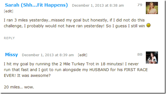 image thumb11 Pile on the Miles Finale and Turkey Trot Recap with giveaway winners