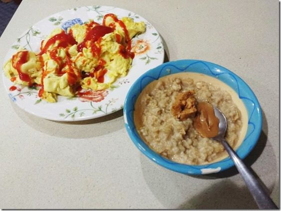 oatmeal with peanut butter and eggs (668x501)