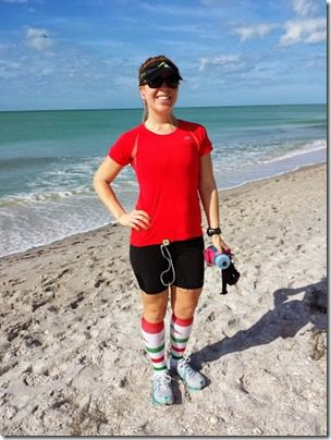 running in florida with pro compression socks 376x501 thumb My Christmas Day 2013