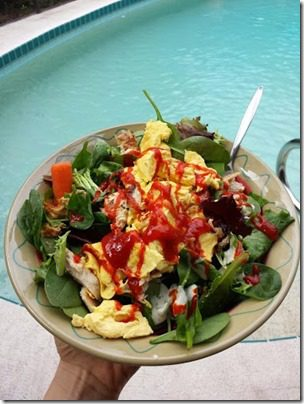 salads by the pool 376x501 thumb I Almost Got Eaten By An Alligator