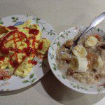 eggs and oatmeal breakfast