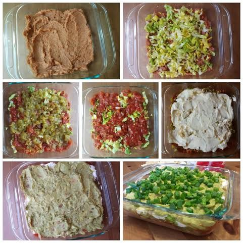 Skinny Layered Guacamole Dip Recipe — Dishmaps