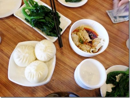 food blogger dim sum in china dumplings and kale