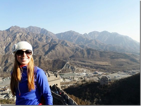top of the great wall of china