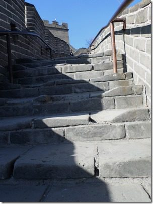 stairs on the great wall of china