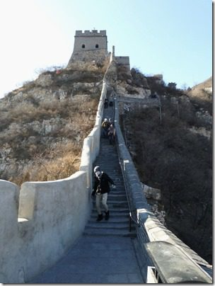 walking on the great wall of china post