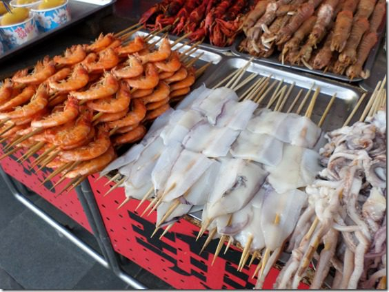 eating shark in china on snack street food blog