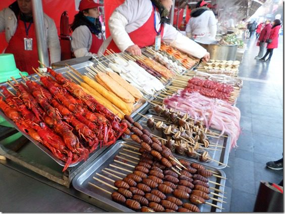 choosing a new food on a stick in china