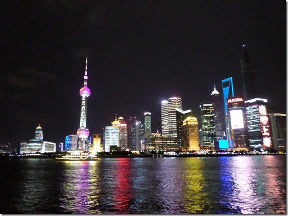 shanghai waterfront at night travel blog