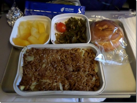 airplane meal shanghai to beijing food blog travel update