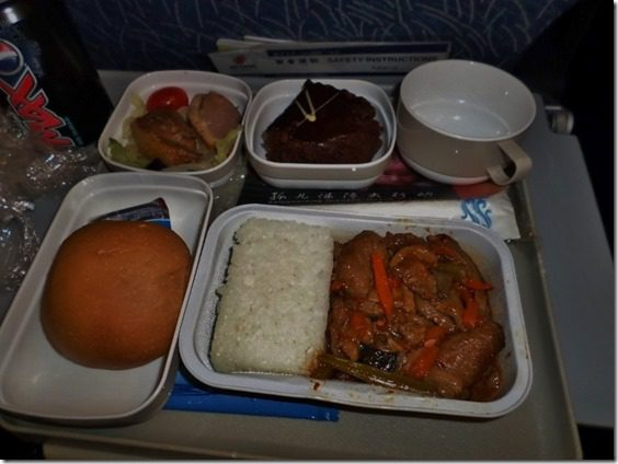 airplane meal from beijing travel food blog update