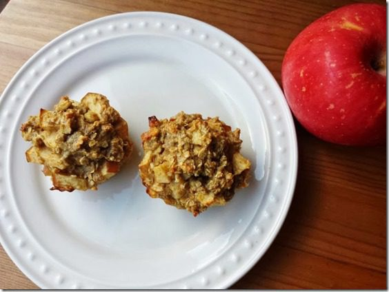 apple muffins 668x501 thumb1 Healthy Apple Oatmeal Muffins Recipe