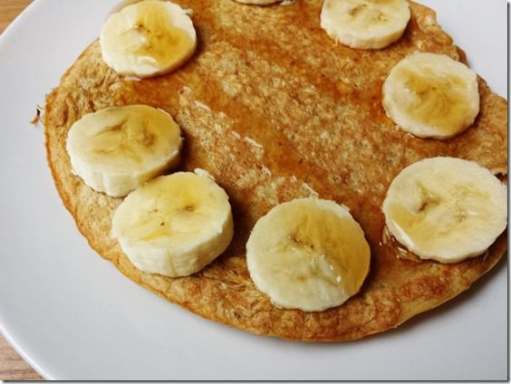 easy oatmeal pancake with two ingredients (800x600)