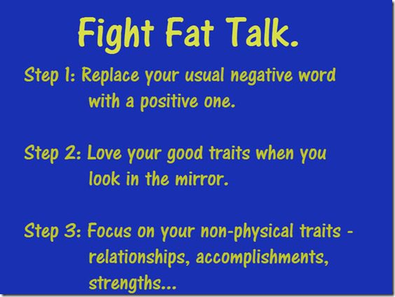 fight fat talk steps