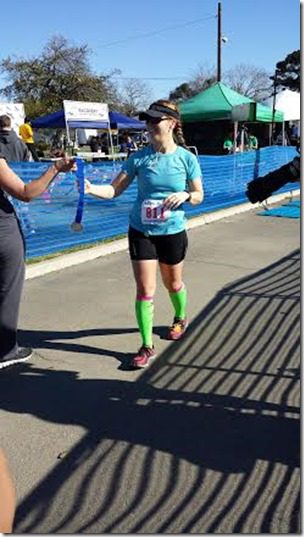 getting my marathon medal 246x437 thumb Camarillo Marathon Results and Recap