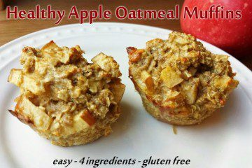 Healthy Apple Oatmeal Muffins Recipe