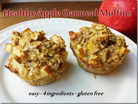 healthy apple muffins for breakfast or snack recipe thumb Healthy Apple Oatmeal Muffins Recipe