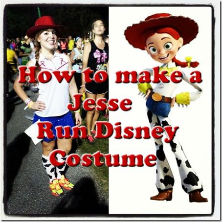 how to make jesse toy story costume run disney