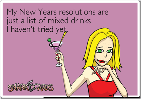 new years resolution e card mixed drinks