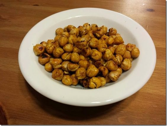 roasted chickpeas from flat belly cookbook