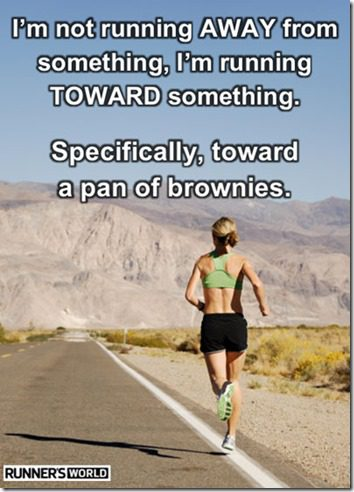 running for brownies