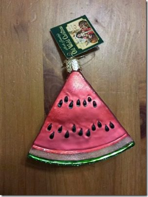 watermelon ornamemt 725x544 thumb Saturday Snacks and a Watermelon Ornament