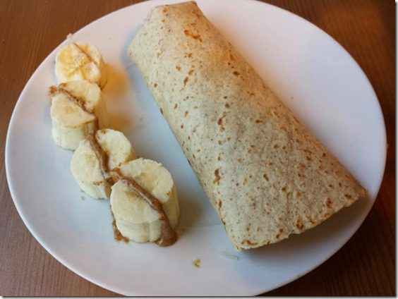 banana and burrito breakfast 669x502 669x502 thumb Post Marathon Super Bowl Feast