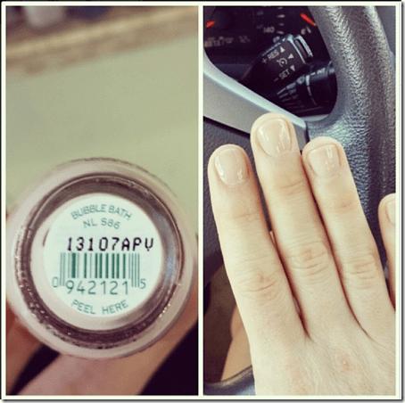 bubble bath nail polish and manicure