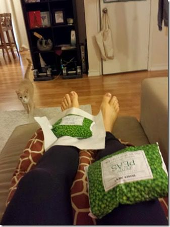 icing after a run knee and ankle 376x502 thumb How to Train For a Marathon Vlog Interview with SarahFit