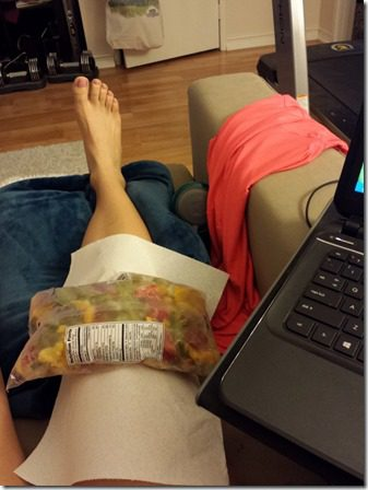 icing my knee after i fell running 600x800 thumb How To Run With A Bloody Knee