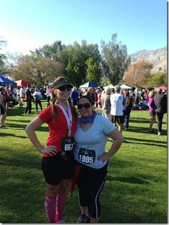 me and cindy palm springs half marathon 328x438 thumb Palm Springs Half Marathon Recap Results and Regrets