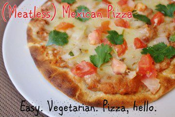Meatless Mexican Monday–Pintos Pizza