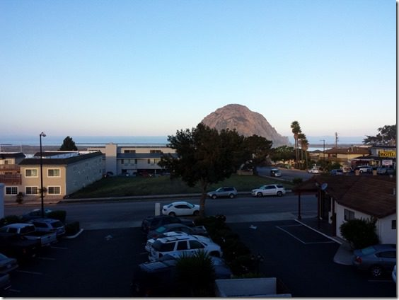 morrow bay hotel view of rock 800x600 thumb Morning Walk and Breakfast in Morro Bay