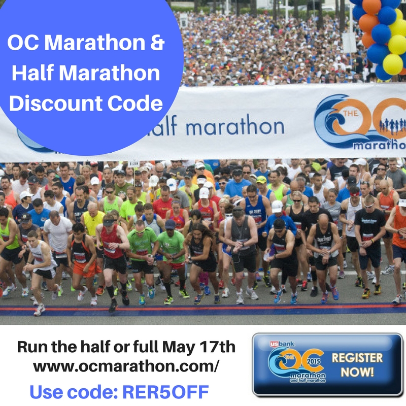 Half marathon and marathon discount coupon codes oc marathon and half marathon use code rer5off for discount fandeluxe Choice Image