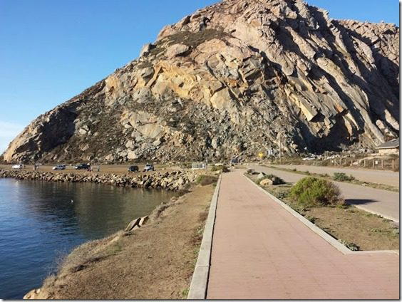 path to the rock in morro bay california travel blog 669x502 thumb Morning Walk and Breakfast in Morro Bay