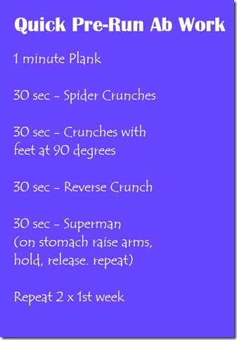 pre run abs thumb RunEatRepeat March Calendar–Working in strength training to our running plan