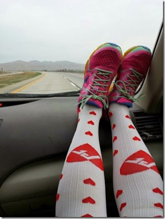 procompression heart socks half marathon 376x502 thumb Buzz Marathon in San Miguel, CA