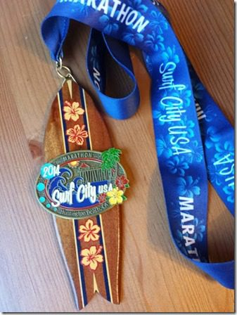 surf city marathon medal 376x502 376x502 thumb Post Marathon Super Bowl Feast