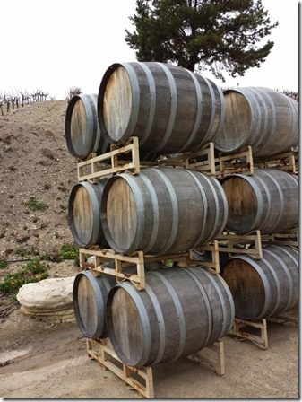 wine barrels in paso robles california food blog 600x800 thumb Wine and Food Tasting in Paso Robles, CA