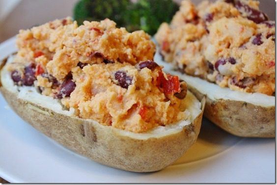 Twice Baked Potatoes with Sabra Hummus Recipe vegan and gluten free