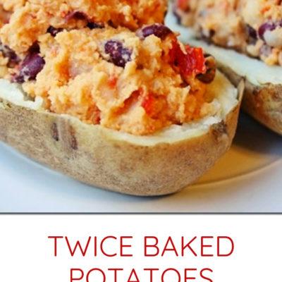 Twice Baked Potatoes with Hummus Recipe