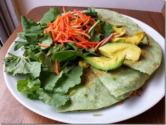 avocado on quesadilla 727x545 thumb Runner's Strength Workout A1 Video