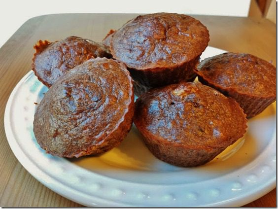 chocolate banana muffins 669x502 thumb Chocolate Banana Muffins Recipe   Gluten Free, Grain Free, Chocolate Full.