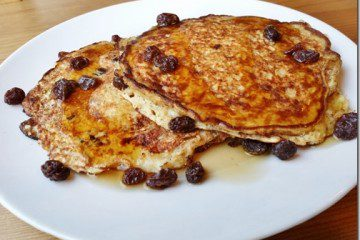 Cinnamon Raisin Protein Pancakes and Chocolate Milk Dreams…