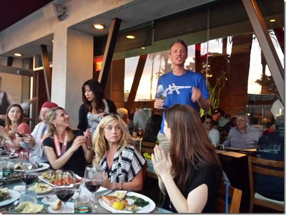 coach andrew kastor post race talk 800x600 thumb LA Marathon Aftermath and Dinner with Andrew and Deena Kastor and the whole blogger team
