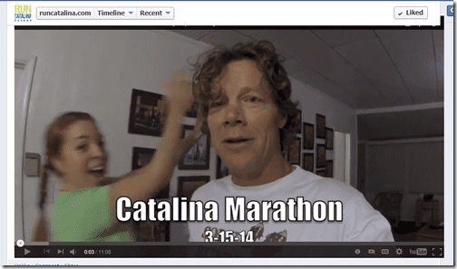 catalina marathon photobomb